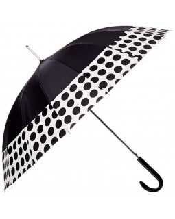 ShedRain Spot On 16-Panel Auto Open Stick Umbrella Polka Dot Black