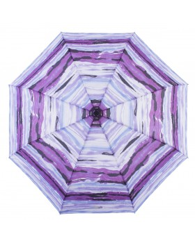 Knirps Belami Folding Telescopic Umbrella Purple Aquarelle Stripes Print