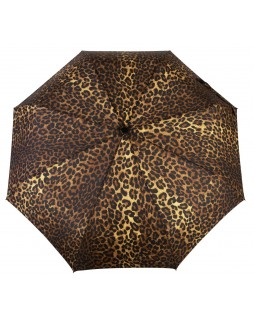 Knirps Belami Folding Telescopic Umbrella Automatic Open & Close Leopard