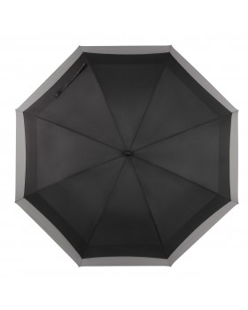 Knirps Belami Jumbo Windproof Stick Umbrella Black / Grey