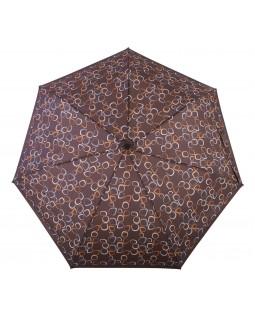 Derby Hit Mini Automatic Open Folding Telescopic Umbrella Amalia Brown