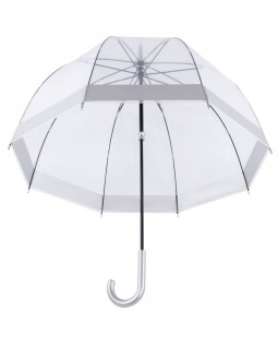 Knirps Belami Clear Dome Stick Umbrella Silver Border