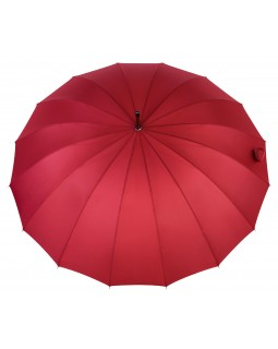 Knirps Belami Stick Umbrella with Wooden Handle Oxblood Red